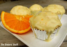 Orange Glazed Muffins- these are a delicious breakfast. The glaze is what makes these amazing! SixSistersStuff.com #muffins #breakfast
