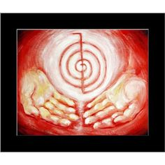 Amazon.com: Reiki Healing Hands Fine Art matted picture: Everything Else