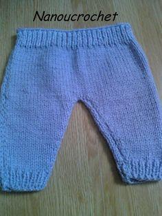 Bonjour à toutes en ce jour de repos...   Je vous offre aujourd'hui ce modèle de pantalon pour les prémas à faire...