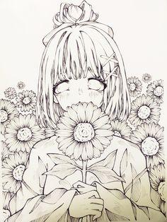 Art Drawings Sketches Simple, Colorful Drawings, Cute Best Friend Drawings, Anime Lineart, Anime Sketch, Kawaii Art, Art Reference Poses, Anime Art Girl, Cute Art