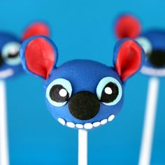 Stitch Cake Pops (I cannot express just how much I need to make these!!!)