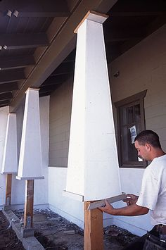 Tutorial on How to Build Tapered Bungalow Columns.