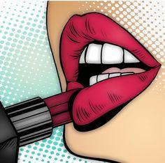 Recolor Art By TheTundraWithin Arte Pop, Pop Art Illustration, Retro Pop, Lip Art, Pop Art Lips, Art For Art Sake, Art Girl, Comic Styles, Poster