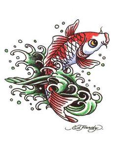 "3 Pack Ed Hardy Koi Fish Temporary Body Art Tattoos 3"" x 4"" [ehit-10] #tattoos #edhardy #koifish #bodyart"