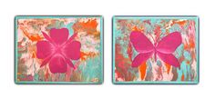 Nursery wall art painting on canvas,girls bedroom wall decor,flower and butterfly ,turquoise and pink ,birthday gift . Girl Bedroom Walls, Home Decor Bedroom, Bed Room, Flower Wall Decor, Kid Beds, Nursery Wall Art, Pretty In Pink, Baby Shower Gifts, Arts And Crafts