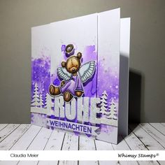 Claudia's Karteria: Ein Teddy-Engelchen zu Weihnachten | A teddy angel... Claudia S, Memories Box, Whimsy Stamps, I Card, Christmas Cards, Angel, Enchanted, Blog, Instagram
