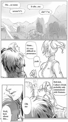 "inuta000: ""【Elvish lesson】 (my old pics) Sorry, I am not good at Elvish as well as English. (つ∀`) ""(Photo set)"