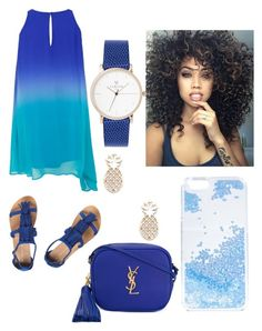 """Royal Blue"" by mizz-geekster on Polyvore featuring Dorothy Perkins, Yves Saint Laurent, Skinnydip and Sole Society"