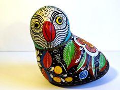 Looks like an owl to me!!  Vintage Signed Mexican Pottery Bird Tonala by  TimelessTreasuresbyM, $27.00