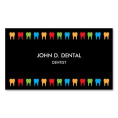 Dentist, dental business or profile card business card templates. Make your own business card with this great design. All you need is to add your info to this template. Click the image to try it out!