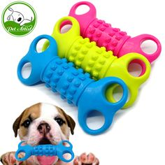 Soft Rubber Bone Interactive Dog Toys Non-toxic Pet Cat Puppy Chew Training Toy for Small Dogs #Affiliate