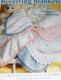 Crochet Edging for Baby Blankets. ☂ᙓᖇᗴᔕᗩ ᖇᙓᔕ☂ᙓᘐᘎᓮ http://www.pinterest.com/teretegui