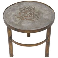 Rare Philip and Kelvin LaVerne Abstract Side Table | From a unique collection of antique and modern tables at https://www.1stdibs.com/furniture/tables/tables/