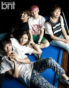 """SEVENTEEN is charming and handsome in first """"bnt"""" pictorial - Vocal Team (L to R): Joshua, Jeonghan, DK, Woozi, Seungkwan"""