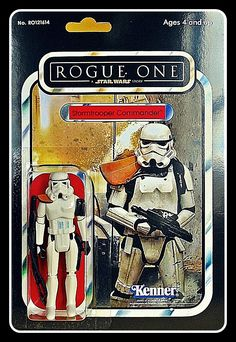 ROGUE ONE STORMTROOPER COMMANDER CARDED Figuras Star Wars, Star Wars Room, Evil Empire, Star Wars Action Figures, Star Wars Collection, Retro Toys, Classic Toys, Old Toys, Clone Wars