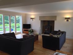 Sheffield 10 extension with stone fire place