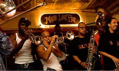 The Rebirth Brass Band performing their Tuesday night gig at the Maple Leaf Bar. #nola #music