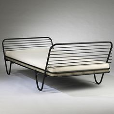 "Design I Love: Mathieu Matégot ""Kyoto Daybed for Atelier Matégot"" 1950 Contemporary Furniture, Cool Furniture, Furniture Design, Take A Seat, Handmade Furniture, Mid Century Furniture, Furniture Inspiration, Mid Century Design, Kyoto"