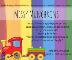 Miss Meg's Storytime -  ideas for messy activities for babies
