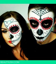 Halloween makeup | Genevieve K.'s Photo | BeautylishThis would look cool with a pair of round glasses if you need to wear your specs on haloween