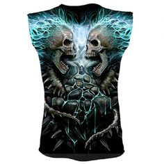 Flaming Spine Top