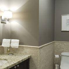 Gray Bathroom Colors - Cottage - bathroom - Glidden Fossil Grey - 320 Sycamore