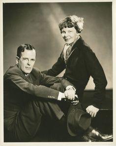 Amelia Earhart and husband, George Putnam