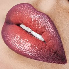 Today's #LipOfTheDay is an ombré of 'Grandma' & 'Lydia' #LipTar lined with 'Lydia' #OCCPencil.