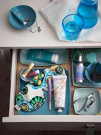 A spa drawer in the night stand... Create a Relaxing Bedroom