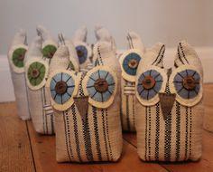 Fabric Owls by Charlie Deighton on Folksy.