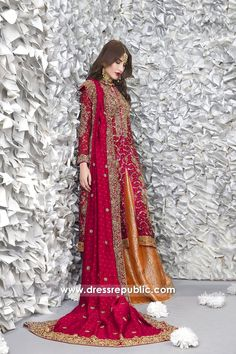 Glorious Bridal Lehenga Dress for Wedding and Special Occasions Create a stunning glamorous bridal look on your w Pakistani Wedding Outfits, Pakistani Wedding Dresses, Pakistani Dress Design, Bridal Outfits, Indian Dresses, Indian Outfits, Pakistani Couture, Pakistani Mehndi, Churidar