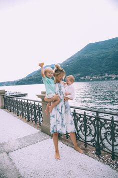 Lake Como and the Floating Pool (Barefoot Blonde)