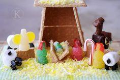 graham cracker and gumdrop Nativity