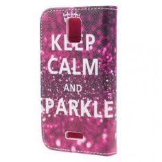 Huawei Y360 keep calm and sparkle puhelinlompakko.