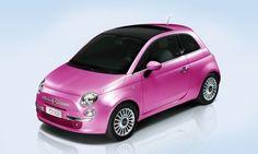 Pearl Pink Fiat 500...yesss pleaz