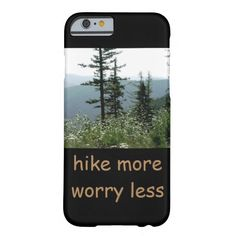 mountain scene nature photography hike more barely there iPhone 6 case