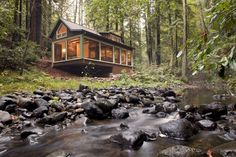 The moment that San Francisco natives Josh Feldman and Britton Watkins toured this property for sale in a woodland area near Santa Rosa, they knew they need not look any further. The 964-square-foot rustic retreat sat beautifully amidst nature's splendor. Surrounded by old-growth trees and situated beside the calming trickle of Mark West Creek, the... Read more