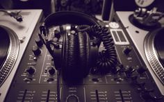 DJ mixer and headphones picture for desktop