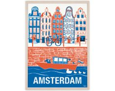 Human Empire Amsterdam 2 Poster by humanempireshop on Etsy, €15.00