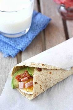 Make-Ahead Egg Wrap Recipe with Ham, Avocado & Salsa | Flickr - Photo Sharing!