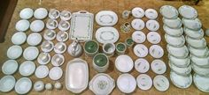 Corelle by Corning Ware Callaway pattern 97-piece dish set with accessories!!! #CorellebyCorning