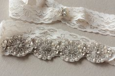 Lace Floral - Ivory lace (one qty ready to ship)