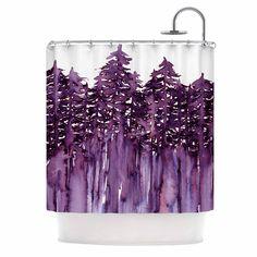Kess InHouse Ebi Emporium 'Forest Through The Trees 2' Shower Curtain