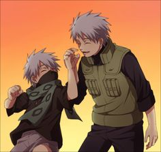 Kakashi-Sakumo (White Fang). Une de mes favorites !^^