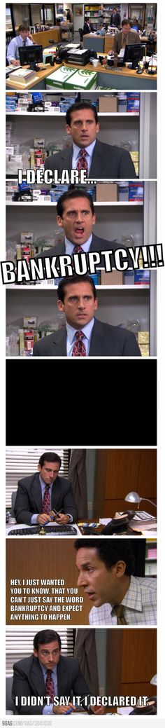Michael Scott being a silly.