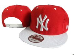 New Era MLB New York Yankees Caps Red White 3690! Only $7.90USD