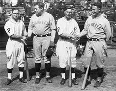Lloyd Waner, Babe Ruth, Paul Waner, and Lou Gehrig.