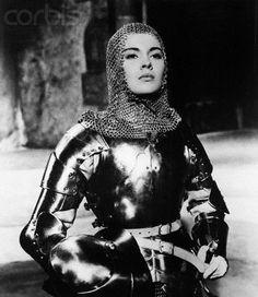 Joan of Arc as portrayed by Jean Seberg in 'Saint Joan' - United Artists, 1957 Joan D Arc, Saint Joan Of Arc, St Joan, Jean Seberg, Jeanne D'arc, Female Armor, Female Knight, Mia Farrow, Joan Of Arc Costume