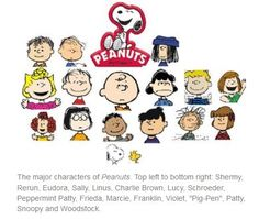 #PEANUTS #Comic strip #Characters - #Charlie #Brown and friends including some names you might not remember. #DianaDee:) - FUNKY MOOD LIFTERS - https://www.pinterest.com/DianaDeeOsborne/funky-mood-lifters/ - Memories that give smiles!