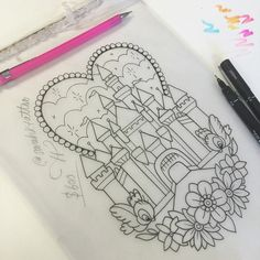 ✨✨ This Disney castle is looking for a home! It's fairly large. full back/side/front lower leg, side thigh, or upper arm only. Perhaps a nice way to start a Disney sleeve? I'm keen to book this in ASAP, so you'll get bargain & get to skip the wait list Please email with your desired placement & availability. Serious enquiries only & I will require a deposit. Thanks y'all sarahkatetattoo@gmail.com #pinkflamingoparlour #thisisnotflash